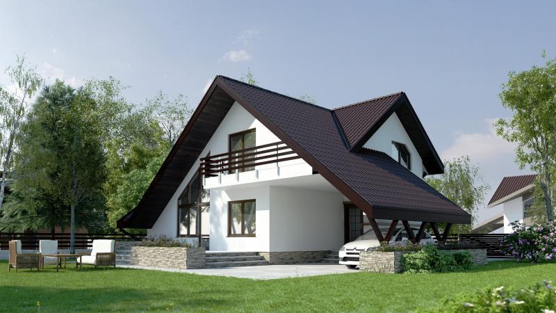 Cas cu etaj sau casa cu mansard mansarda casei ro for Case con casa suocera